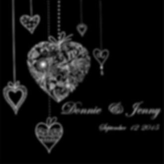 Hanging Hearts Monogram