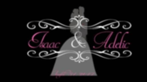 Bride and Groom Scroll Monogram
