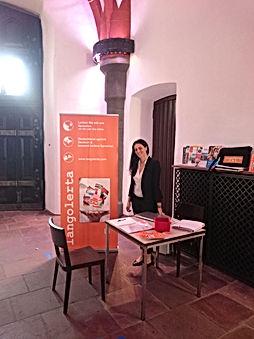 langolerta Messe-Stand beim Newcomers Festival im Römeberg im Schwanensaal 2017