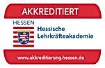 Siegel der Akkreditierung von de Hessischn Lehrkräfteakademie.