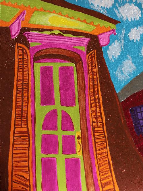 NOLA Uptown Shotgun -  Canvas Painting