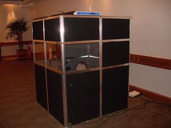 Cabine de técnicos de imagem e video