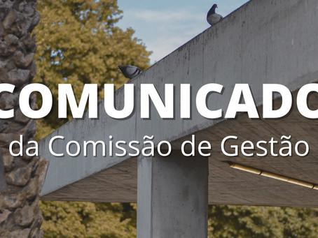 COMUNICADO - Comissão de Gestão