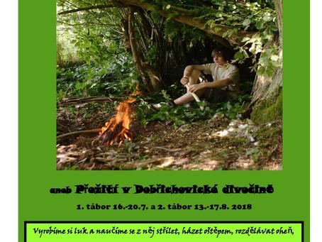 Příměstský tábor Přežití v Dobřichovické divočině 16.-20.7. a 13.-17.8.