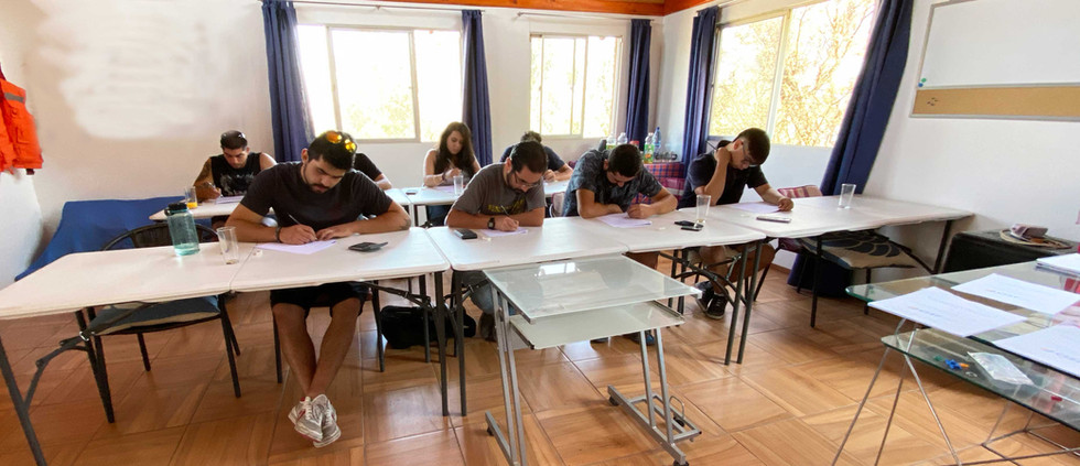 Sala de clases y exámenes