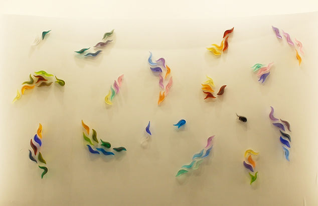 Sofia Athineou Glass Sirens Wall Displa.