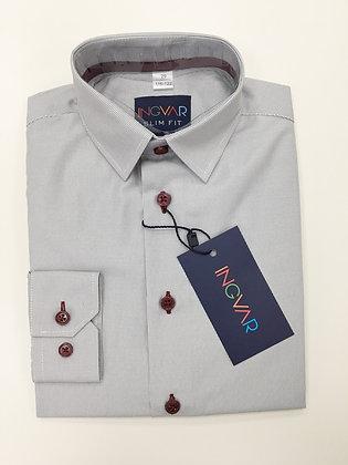 Школьная рубашка INGVAR светло-серая полоска