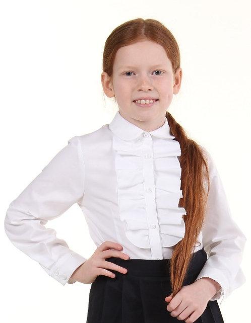 Школьная блуза рюши