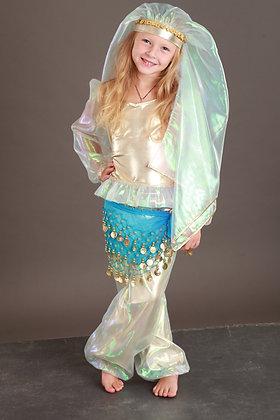 Восточная принцесса (голубой/золото)