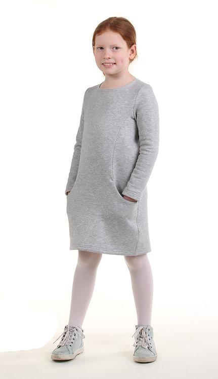 Спортивное платье (серый с блеском)