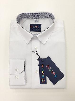 Школьная рубашка INGVAR белая+цветы
