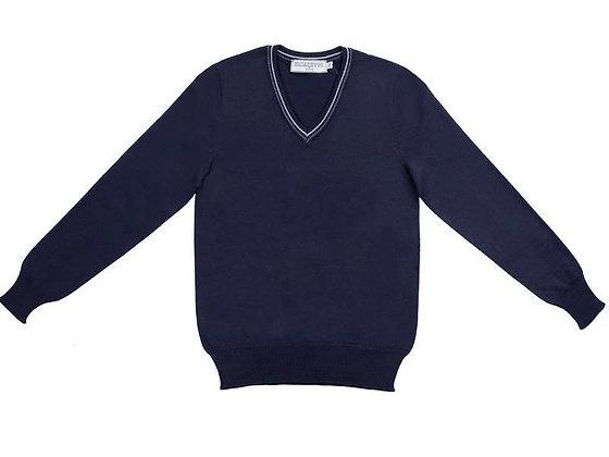 Школьный джемпер темно-синий