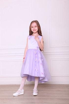 """Платье """"Бабочки"""" лавандовое с хвостом"""