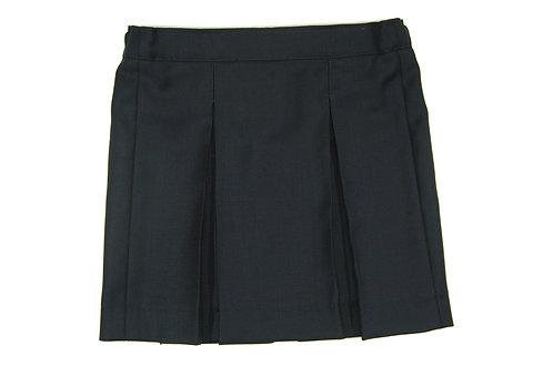 Школьная юбка темно-синяя шерсть