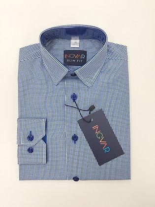 Школьная рубашка INGVAR синяя клетка