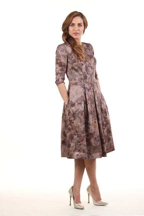 Платье женское коттон-сатин осень