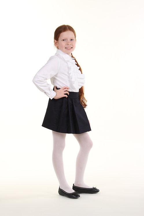 Школьная юбка в складочки темно-синий коттон