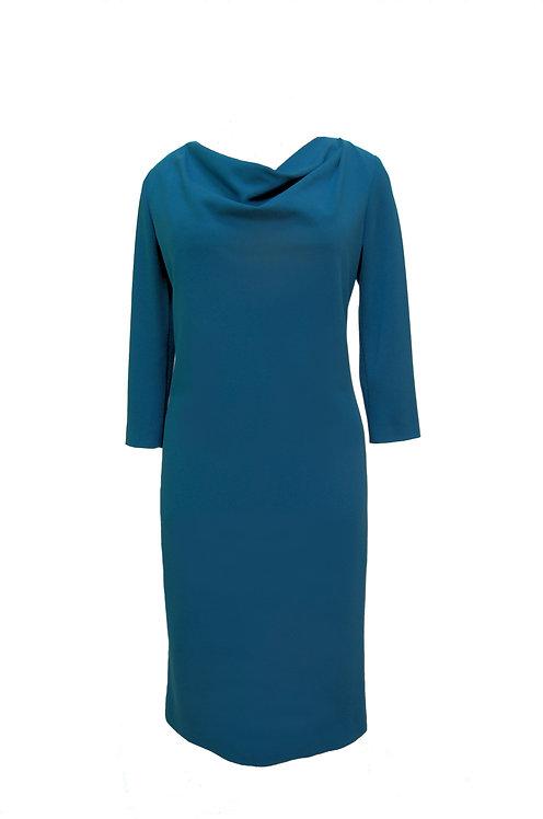 Платье женское джерси морская волна