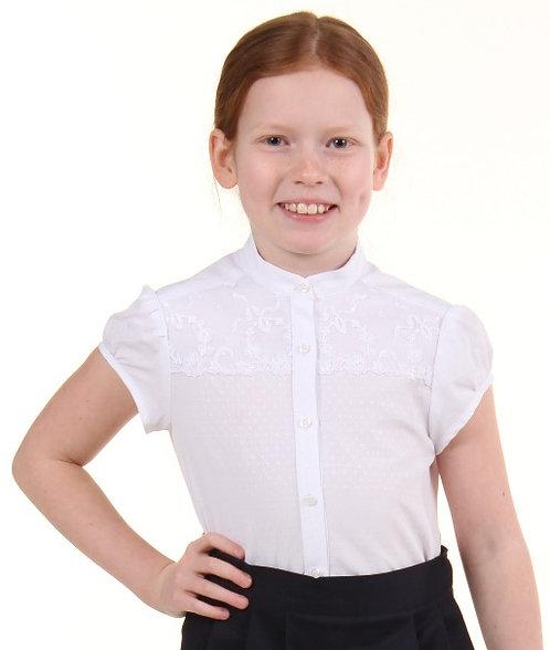 Школьная блуза с коротким рукавом