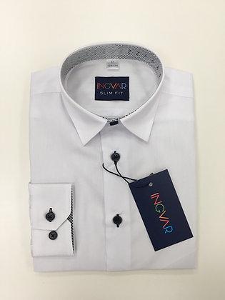 Школьная рубашка INGVAR белая+клетка