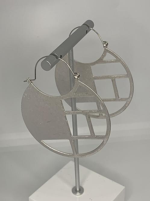 Geometric Shape Metal Earrings
