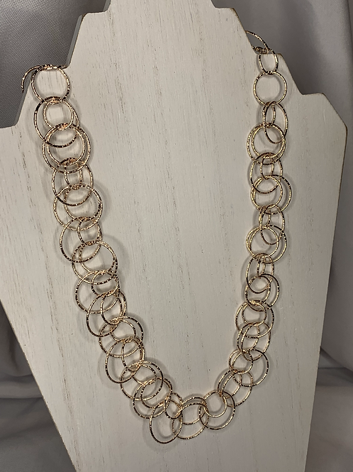 Long Ring Linked Necklace