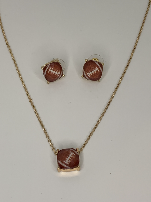 Football Necklace and Earring Set