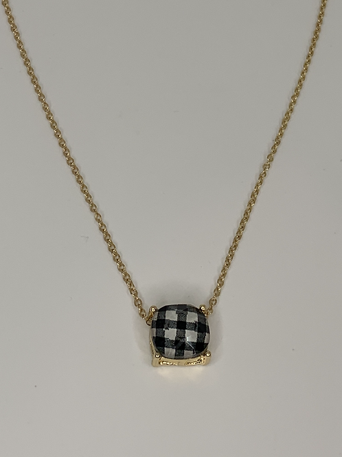 Checkboard Necklace