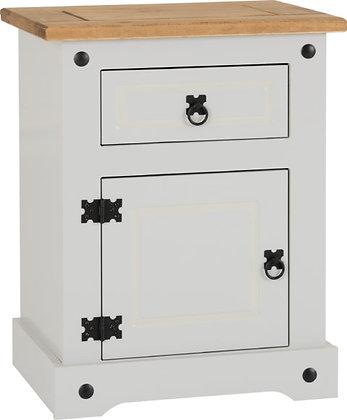 Corona Style 1 Drawer 1 Door Bedside Cabinet