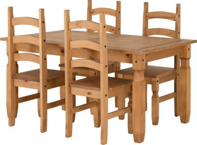 Corona 5' Dining  Set (4 Chairs)