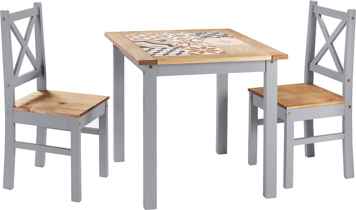 Salvador 1+2 Tile Top Dining Set