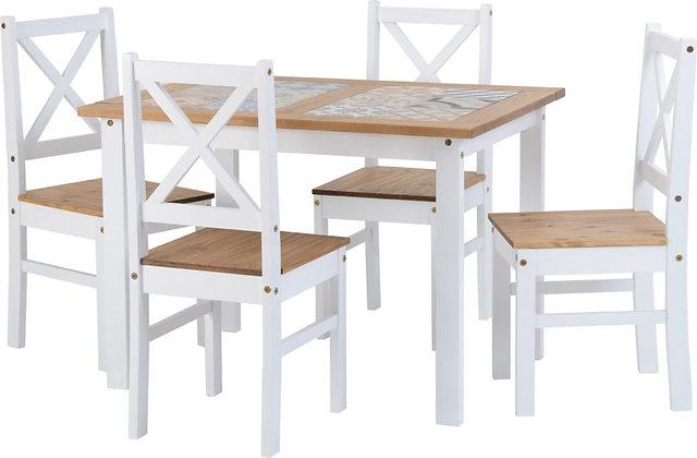Salvador 1+4 Tile Top Dining Set