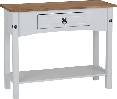 Corona Style 1 Drawer Console Table with Shelf