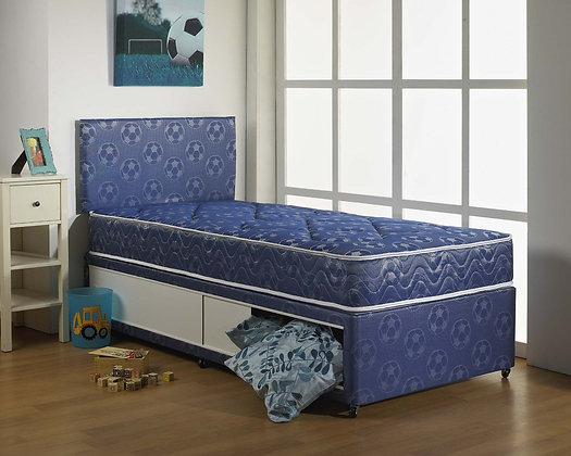 3ft Complete York Divan Set - Blue/Pink