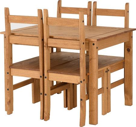 Corona Budget Dining Set (4 Chairs)