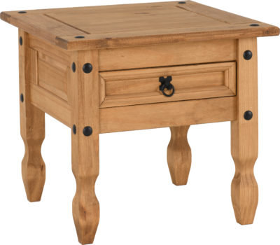 Corona 1 Drawer Lamp Table