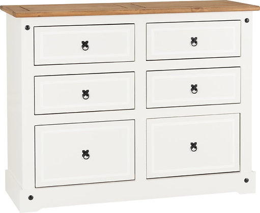 Corona Style 6 Drawer Chest