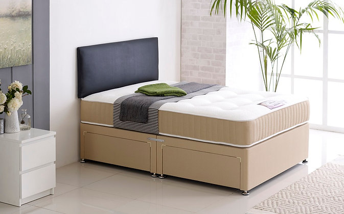 5ft Memory Pocket 1200 Divan Set - 1200 Pocket Sprung