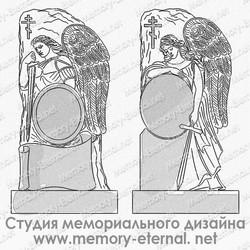 Эскиз памятника с ангелом