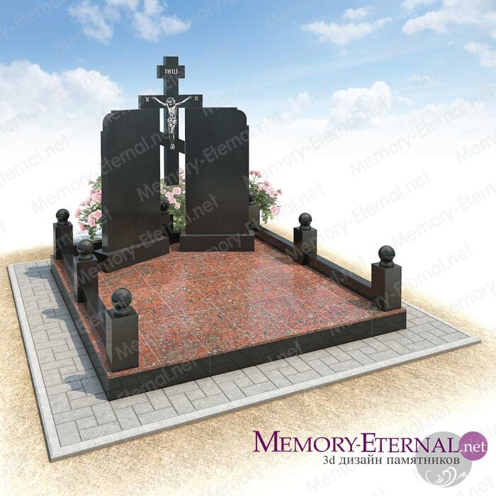 Дизайн двойного памятника