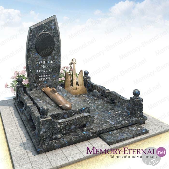 Дизайн мемориального комплекса с якорем