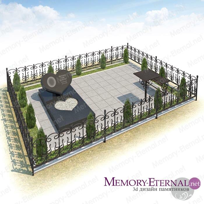 Дизайн мемориального комплекса с сердцем