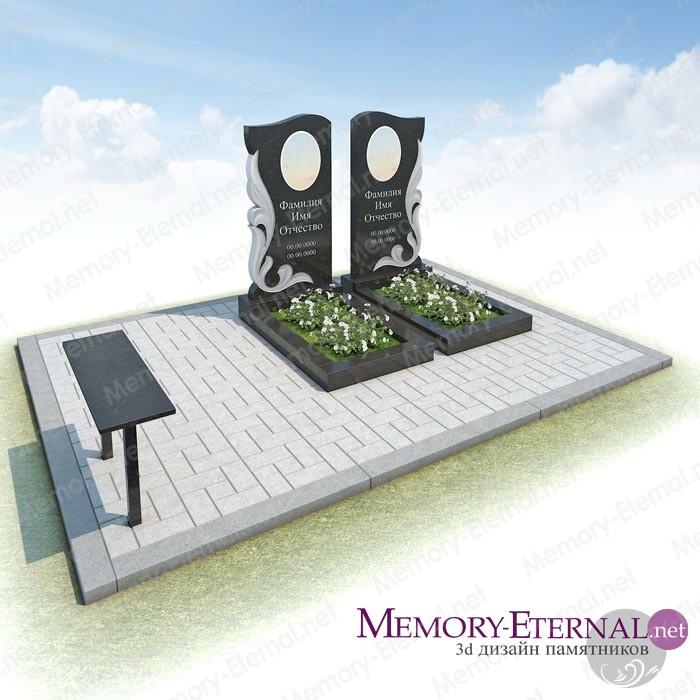 Дизайн памятника с резными памятниками