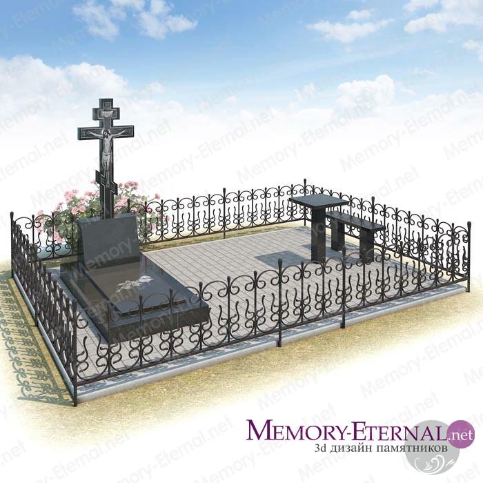 Дизайн мемориального комплекса с распятием