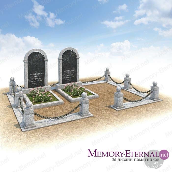 Мемориальные арки из светлого гранита