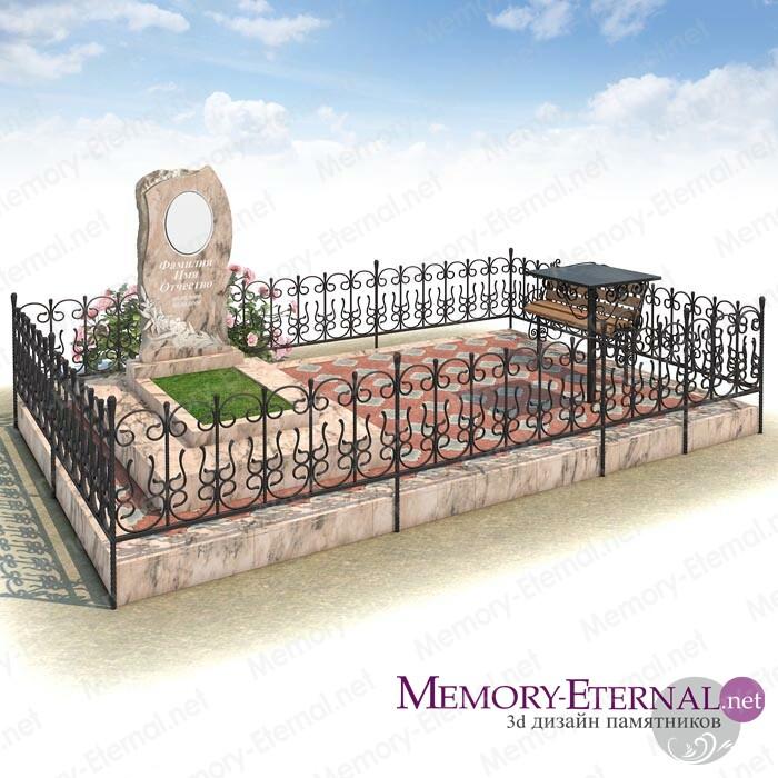3d дизайн мемориального комплекса из мрамора