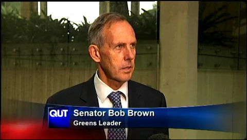 qut news vision image senator bob brown greens leader