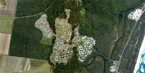 koala beach aerial view