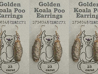 Golden Koala Poo Earrings