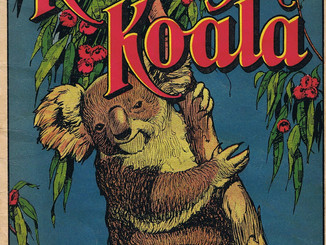Vintage Australian Books With Koalas